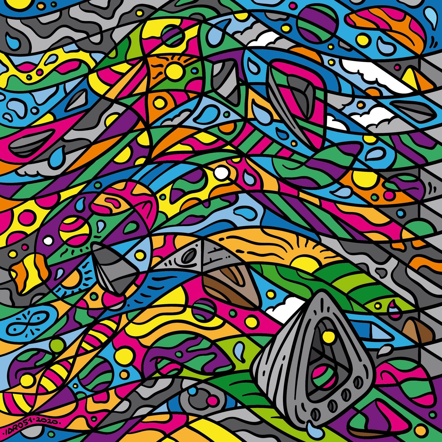 Modular Kaleidoscopic Patterns and Illustration