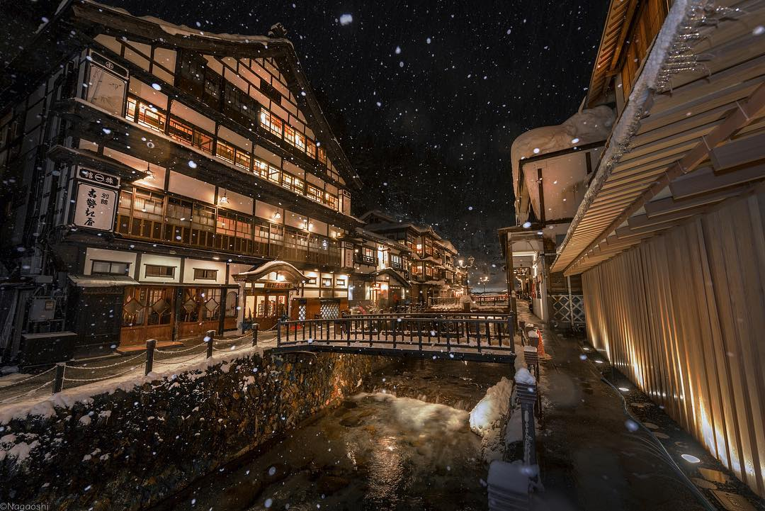 Winter Time in Ginzan Onsen (Hot Spring) and around Japan