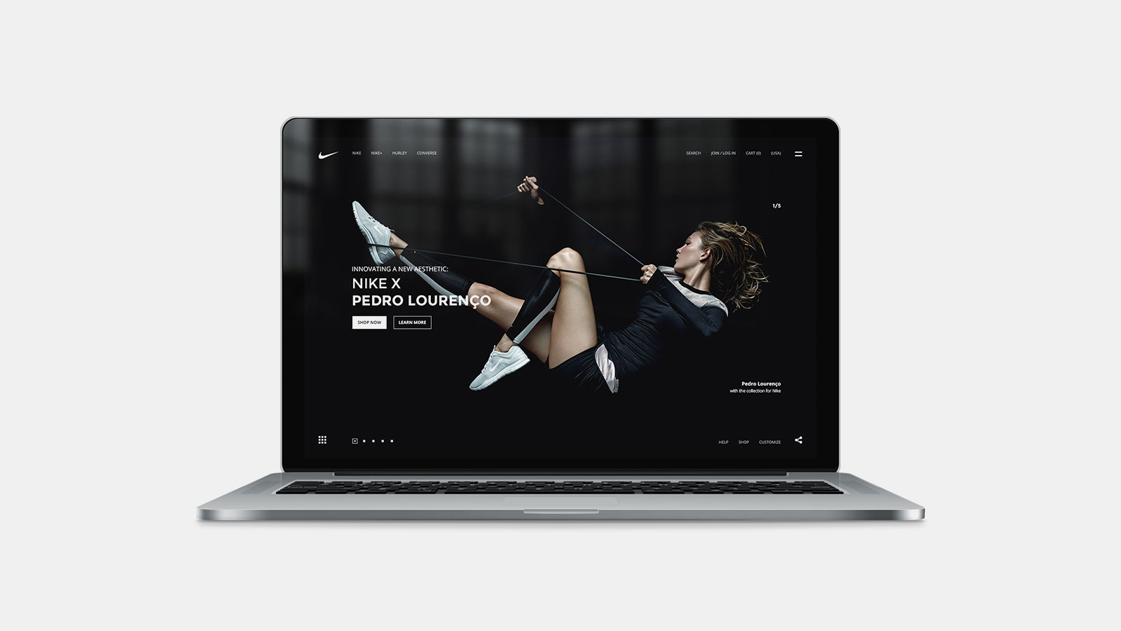 Nike 440 UI Design