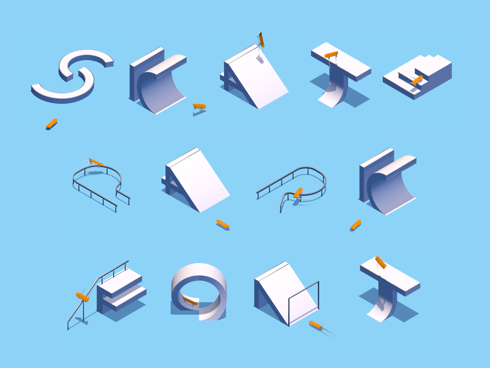 Motion Design/Typography - Skatepark
