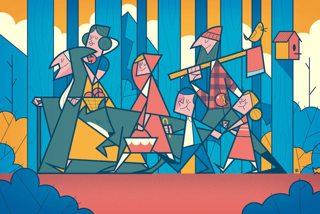 Illustration: Grimms' Fairy Tales by Ale Giorgini