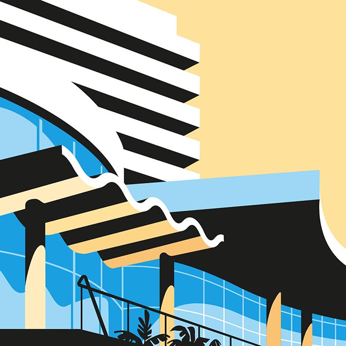 Illustration: Stylish Buildings of Miami