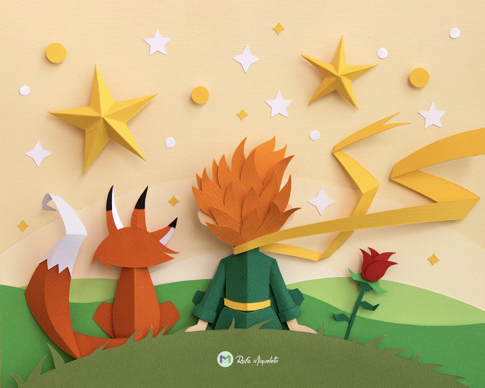 Graphic Design: Paper Craft Project Inspired by The Little Prince