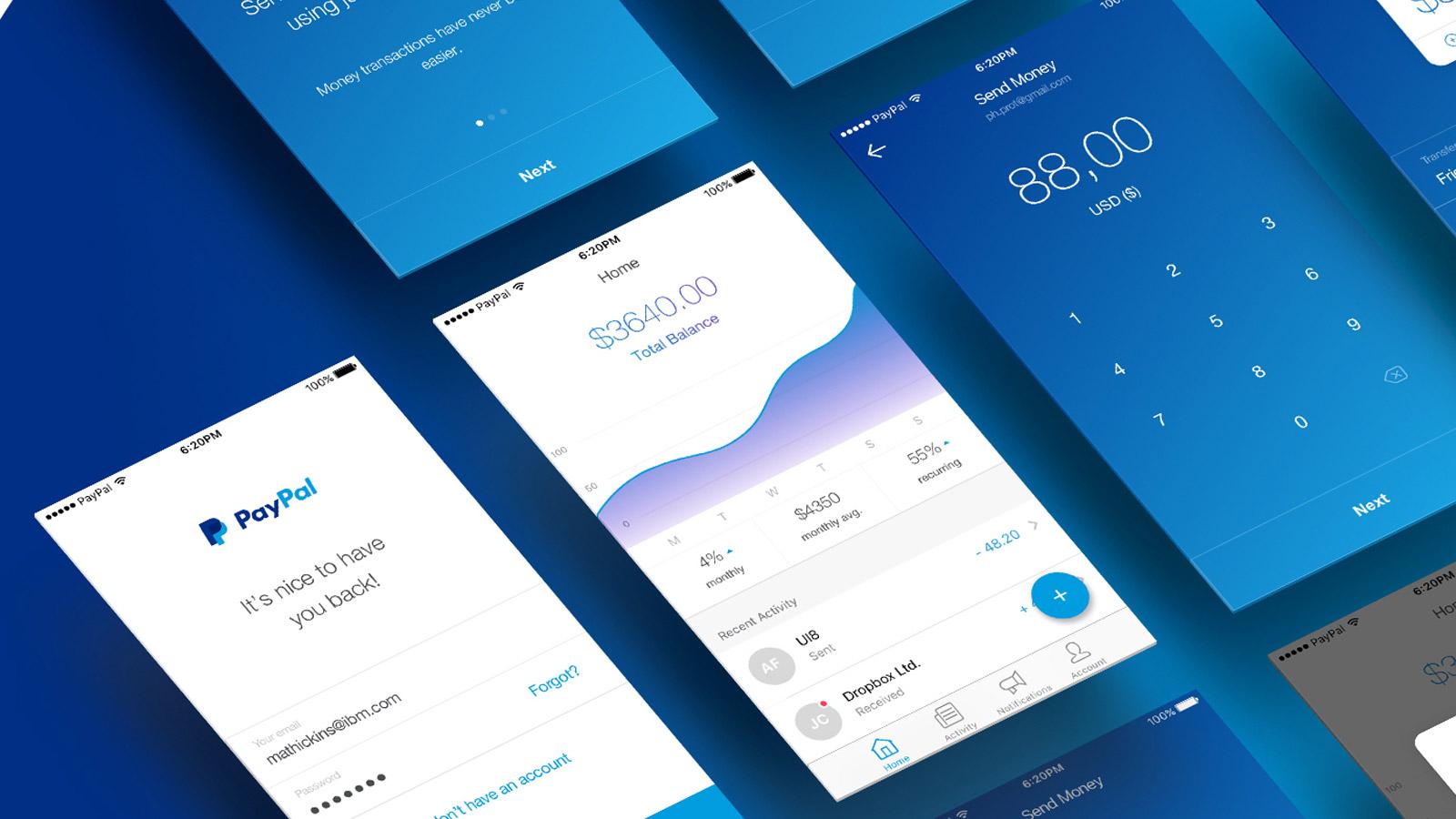 UI Design: PayPal Concept Design