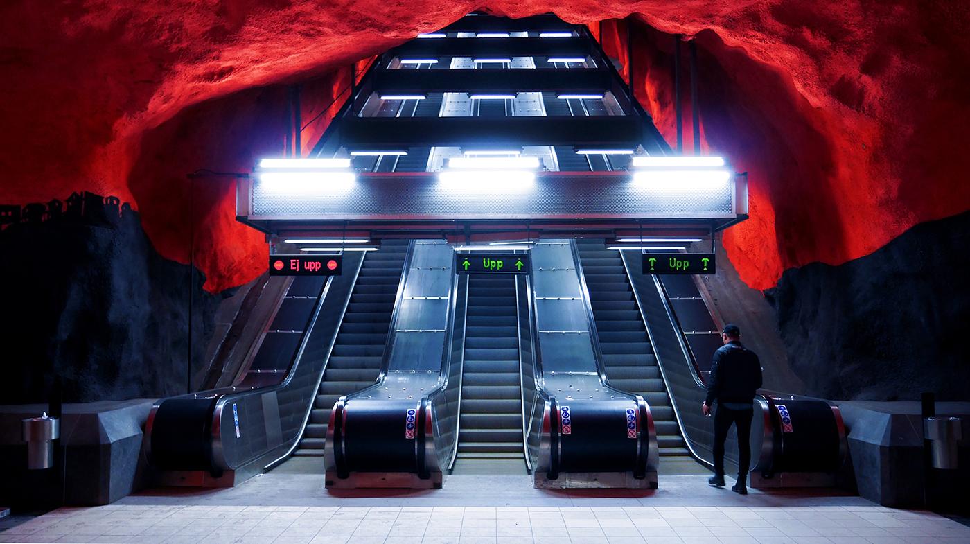 Wallpaper of the Week - Solna Centrum Metro II