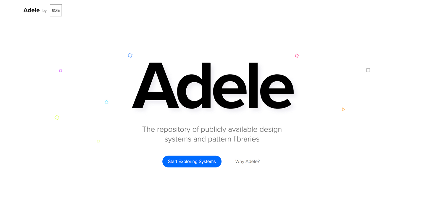 UXPin introducing Adele: The repository of publicly available design systems and pattern libraries