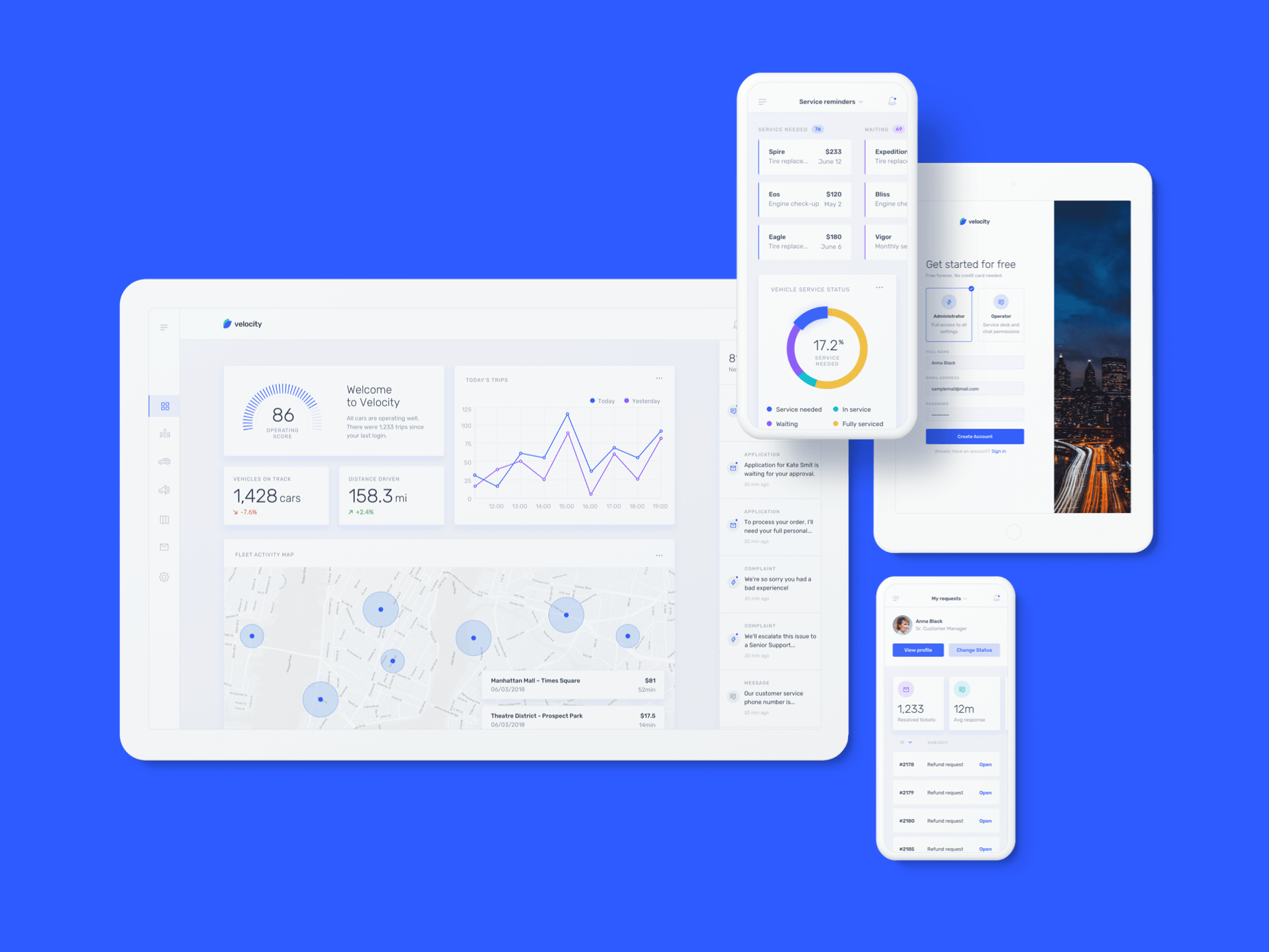 Meet Velocity: a UI kit and complete design system by InVision