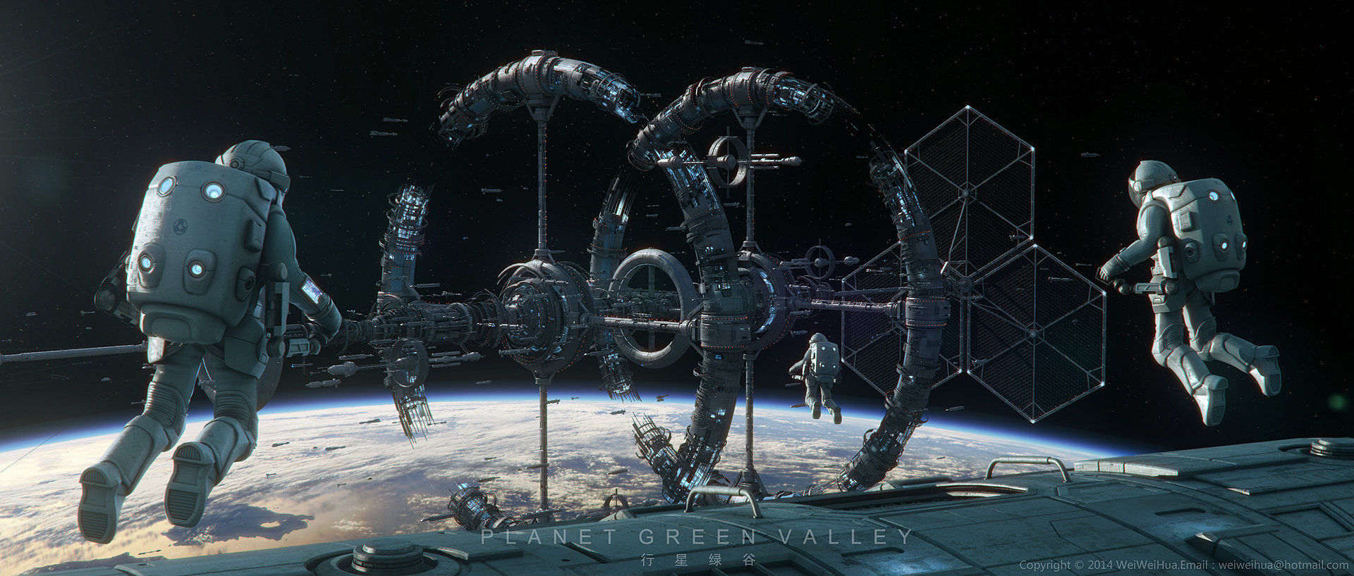 Sci-Fi 3D Illustration and Artworks by Wei Weihua