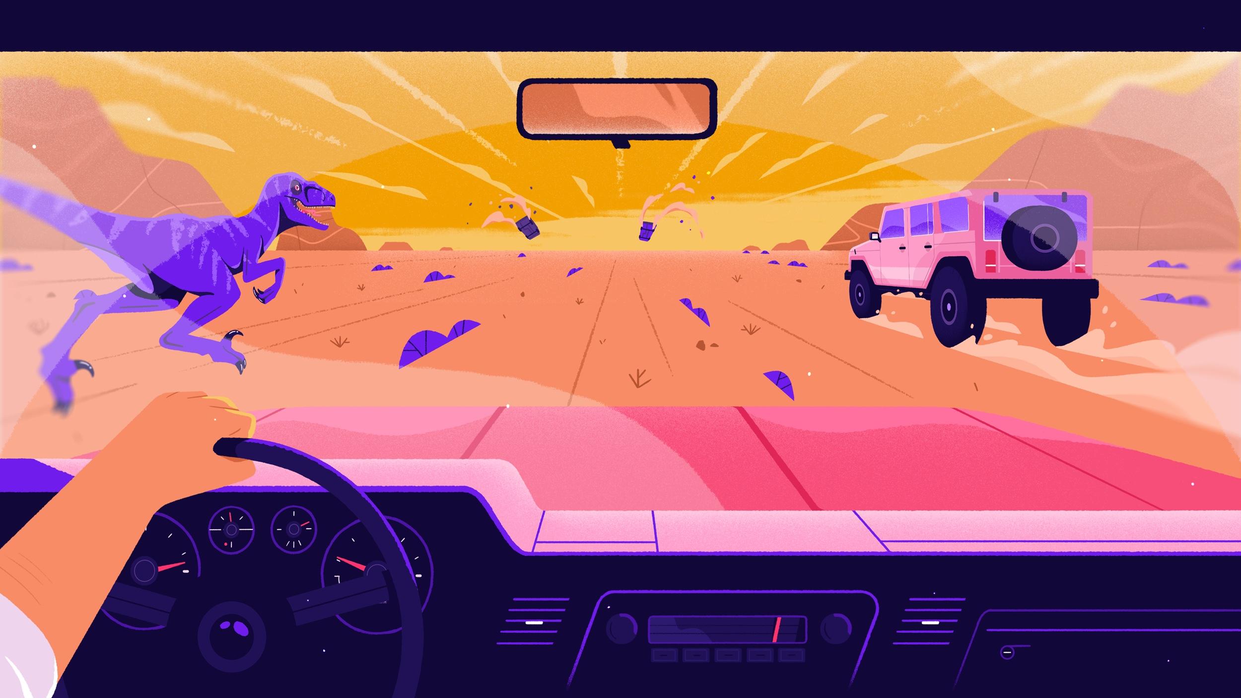 Super Stylish Illustration and Animation: Wonderlust Ident /Racing