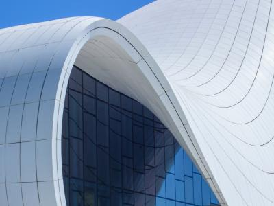 Architecture Photography of the Fluid Heydar Aliyev Center