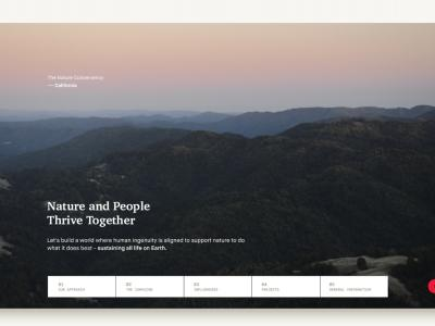 Web Design for The Nature Conservancy (CA)