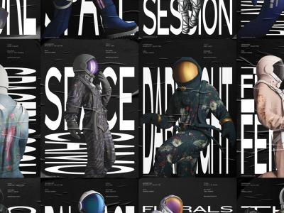 Exhibition Poster Series for Centrepoint Spacesuit Collection 18