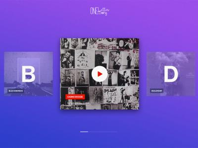 Web design: One Letter One Song UI/UX