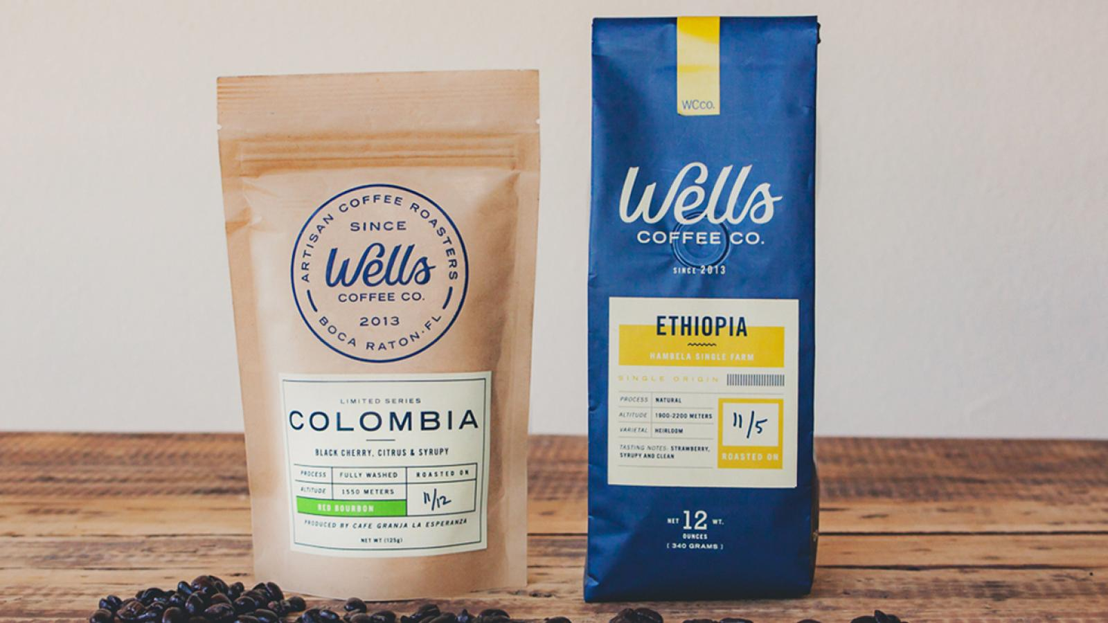 Wells Coffee Packaging Design