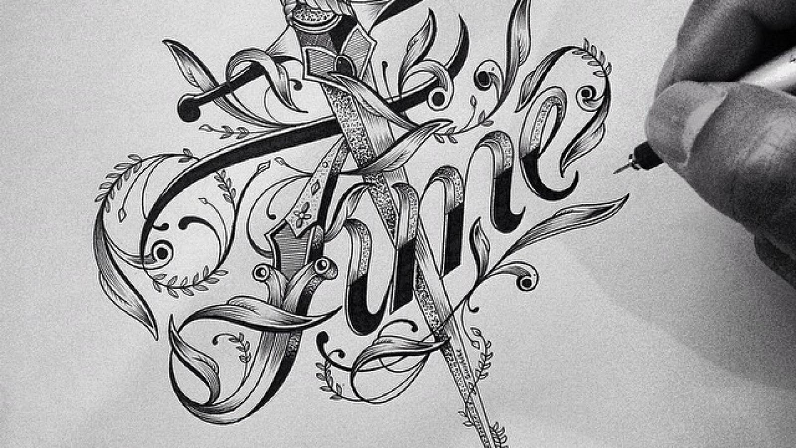Beautiful typography sketches