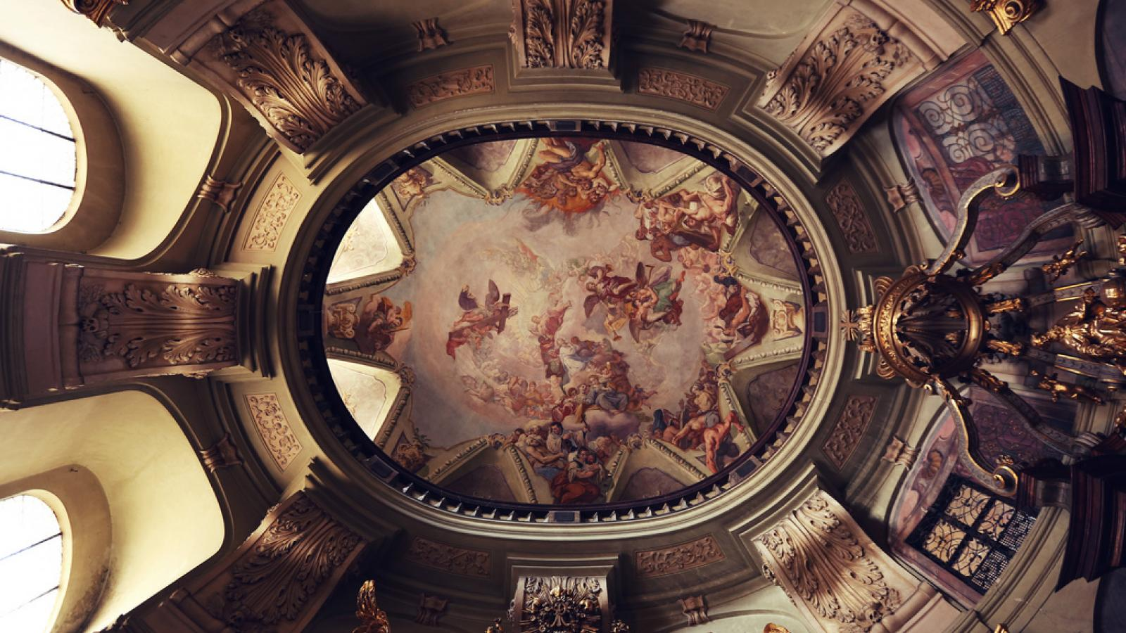 Spectacular Cathedral Ceiling Art