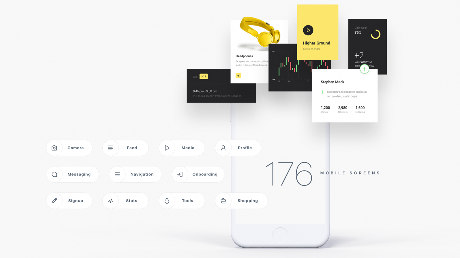 MNML: a Free iOS UI Kit for Sketch, PS and XD