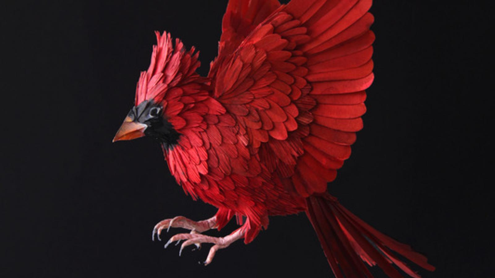 Unbelievable Paper Sculpture Birds by Diana Herrera
