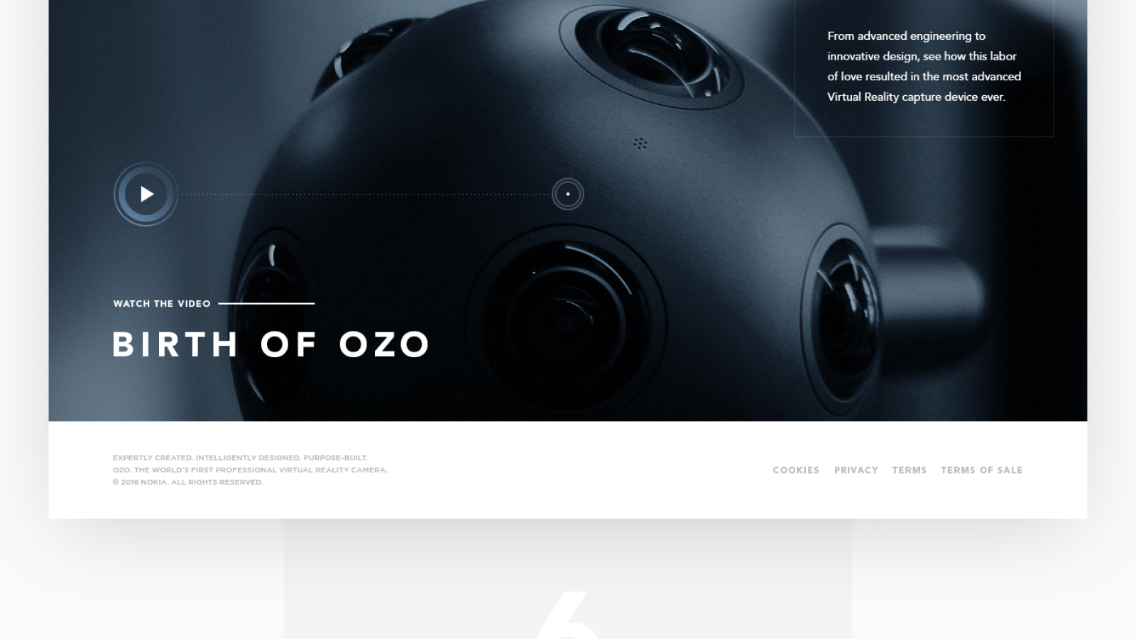 Web Design and Visual Design for Nokia OZO