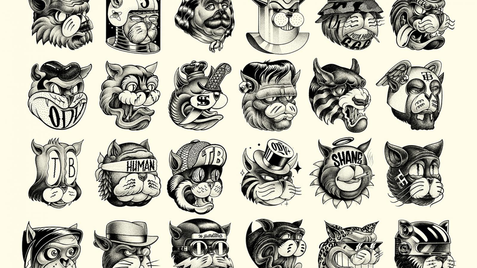 Cartoon Characters by Shane