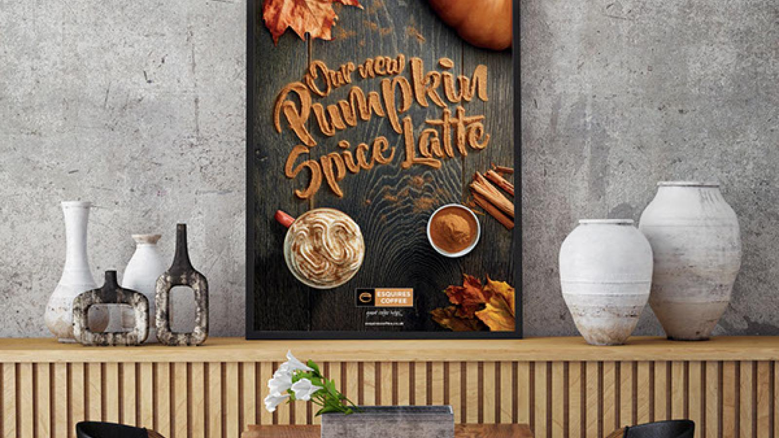 Esquires' Pumpkin Spice Latte - Graphic Design