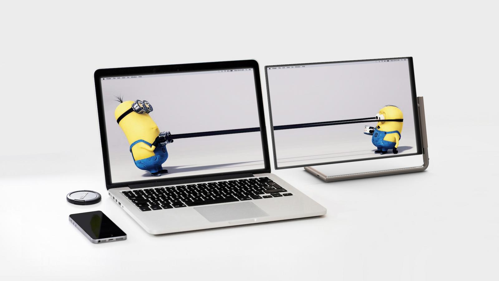 Industrial Design: L-Rod Monitor for your Laptop