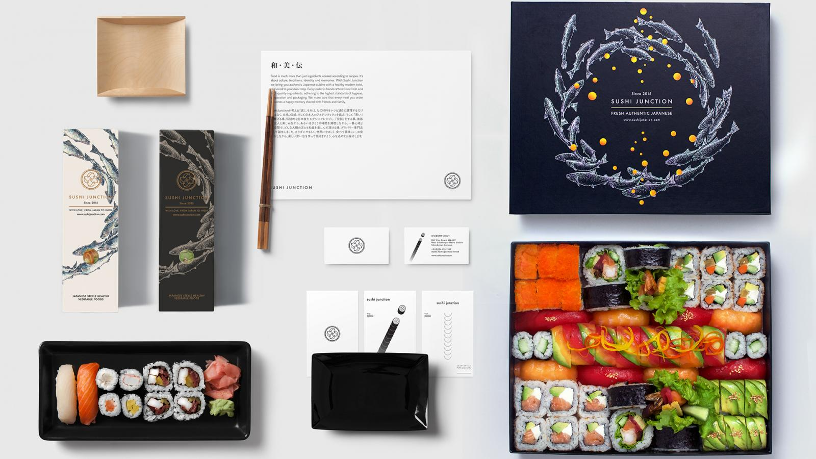 Brand Identity for Sushi Junction by Lee Ching Tat
