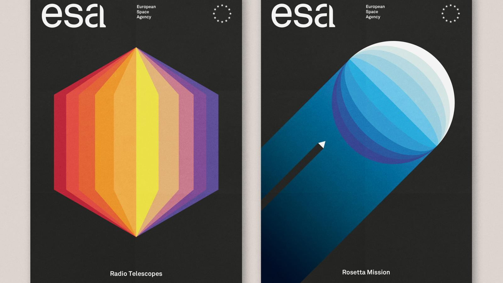 Clever Brand Identity For European Space Agency
