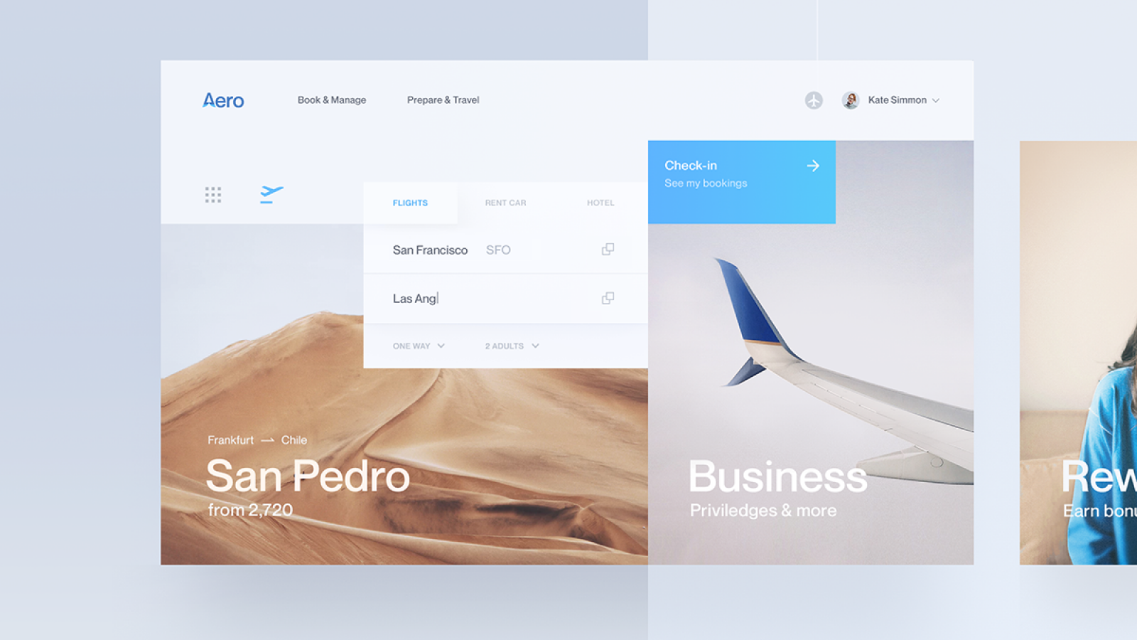 Web Design & UI/UX: Aero - Flight Booking