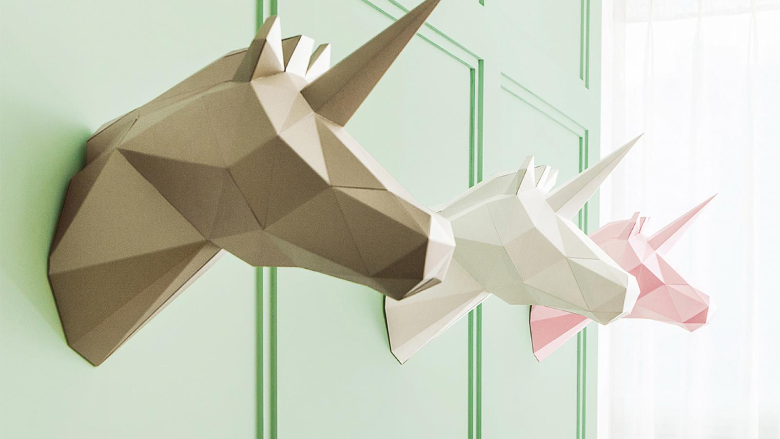 Product Design: DIY Paper Polygon Art by VIU