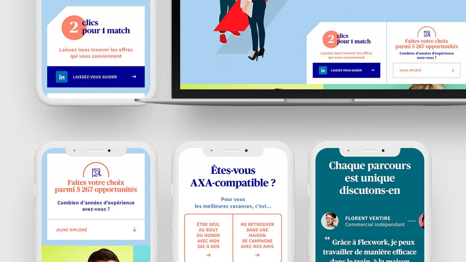 Art Direction for the Web Experience of AXA
