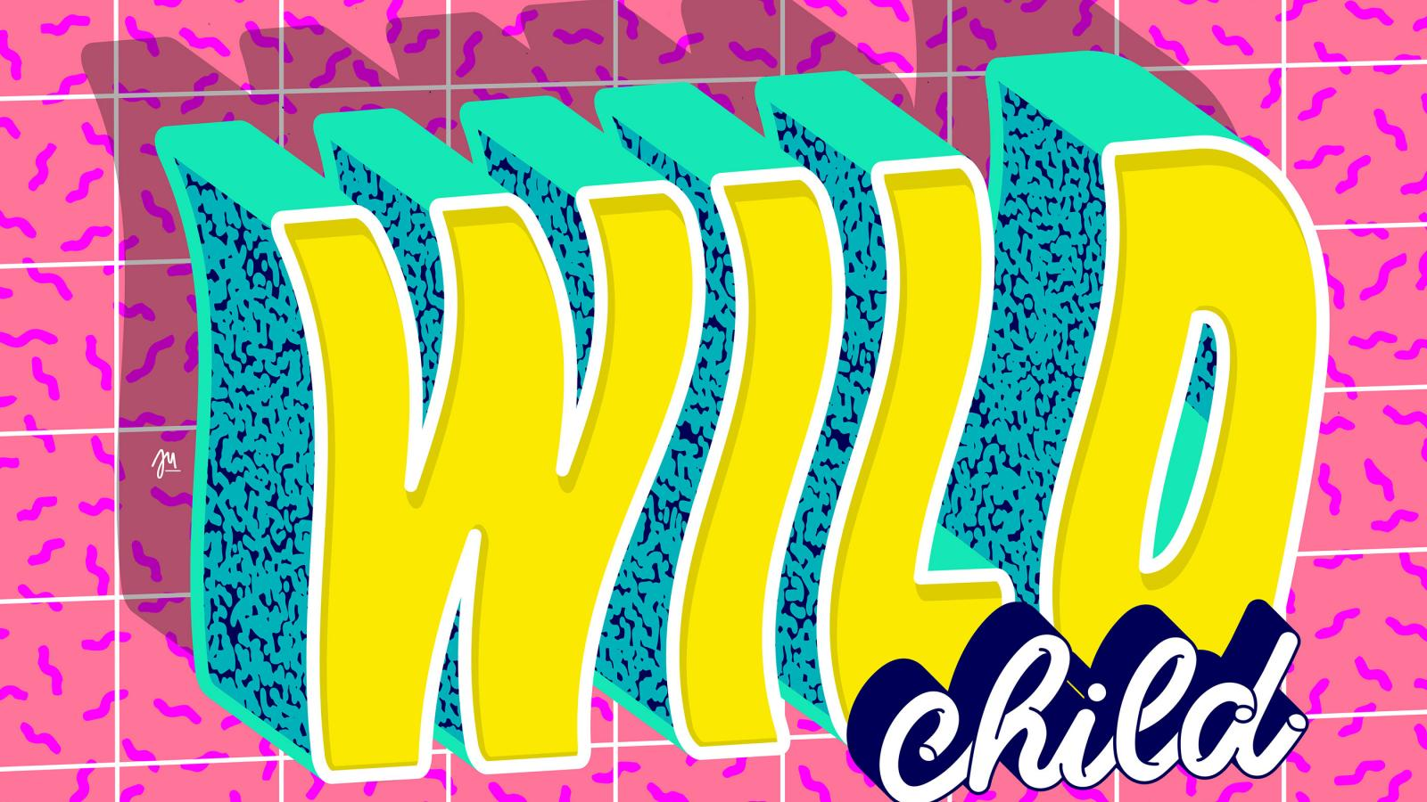 90s Style & Vibrant Lettering Works by Ju Schnee