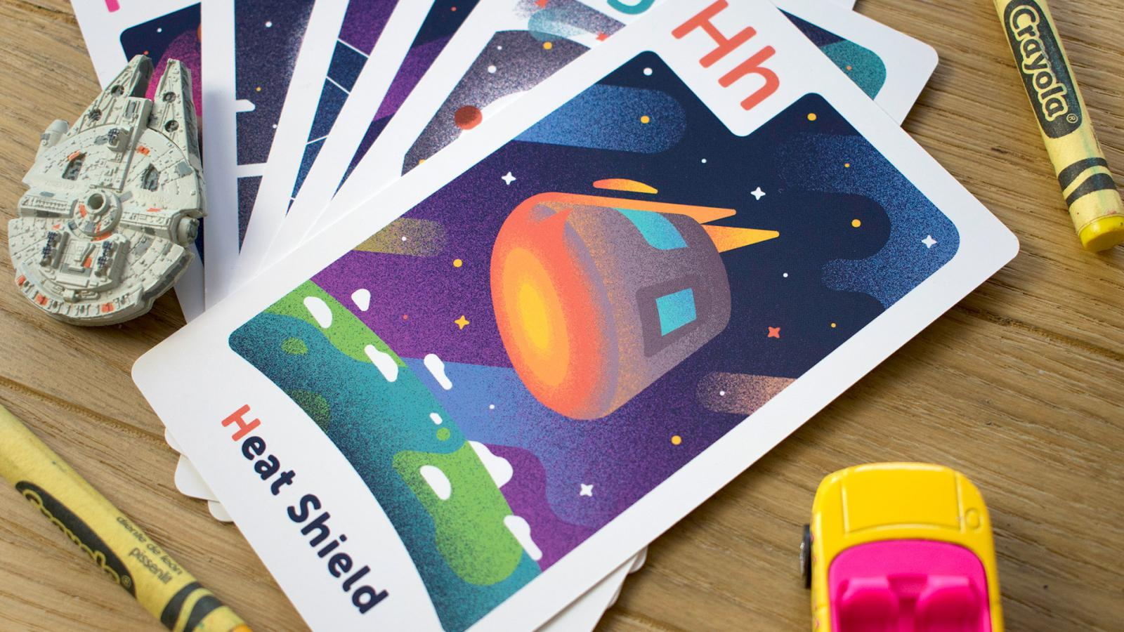 Astro Alphabet Space-themed Flashcards