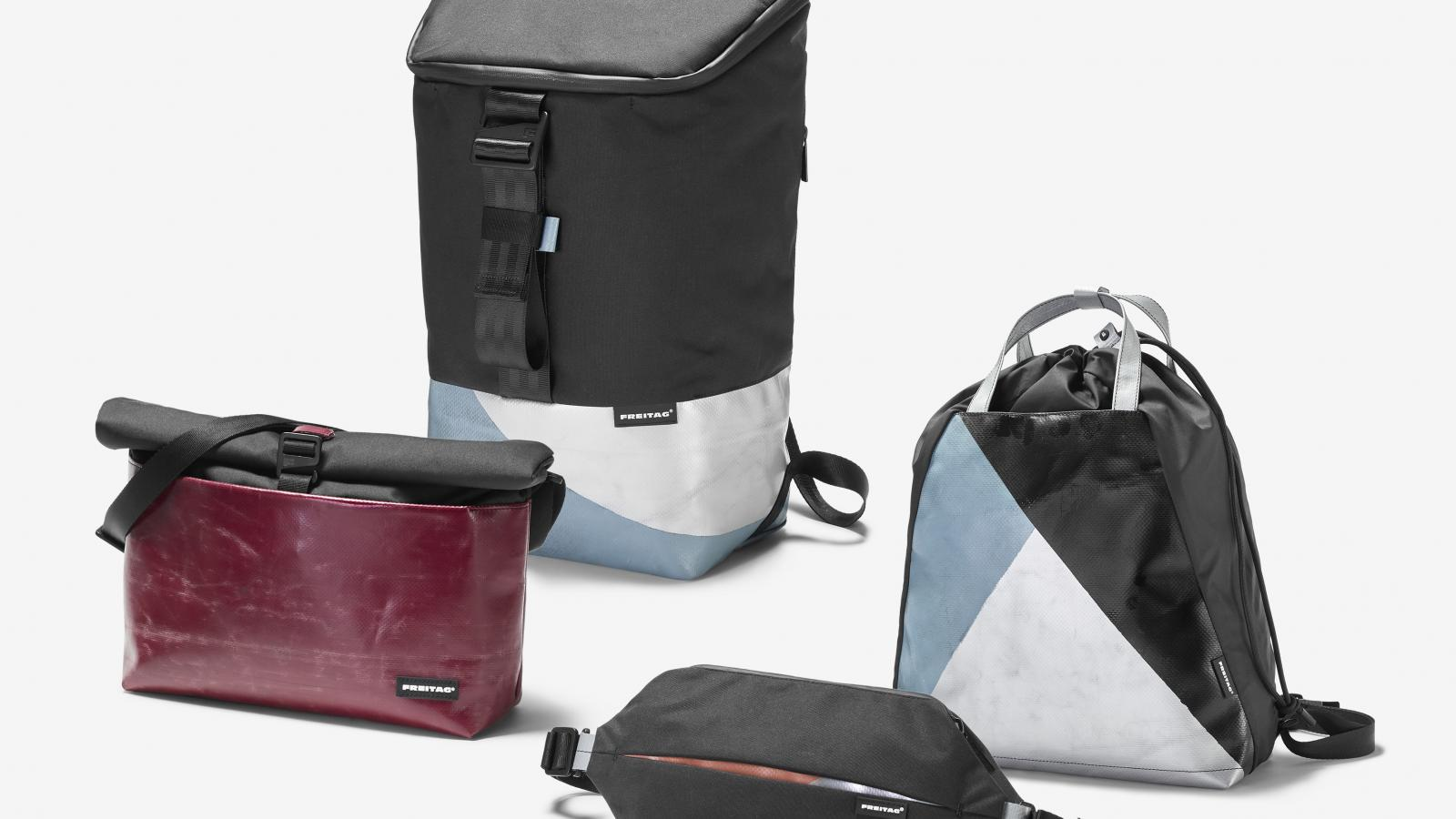 Freitag introducing their newest line of 100% recycled PET Bags