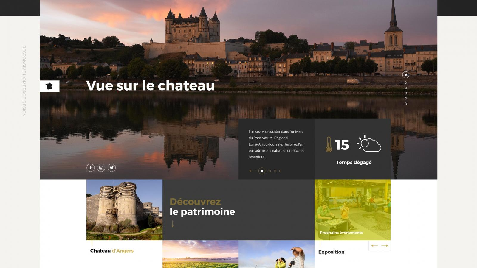 Web Design Project for Parc Naturel Loire-Anjou Touraine