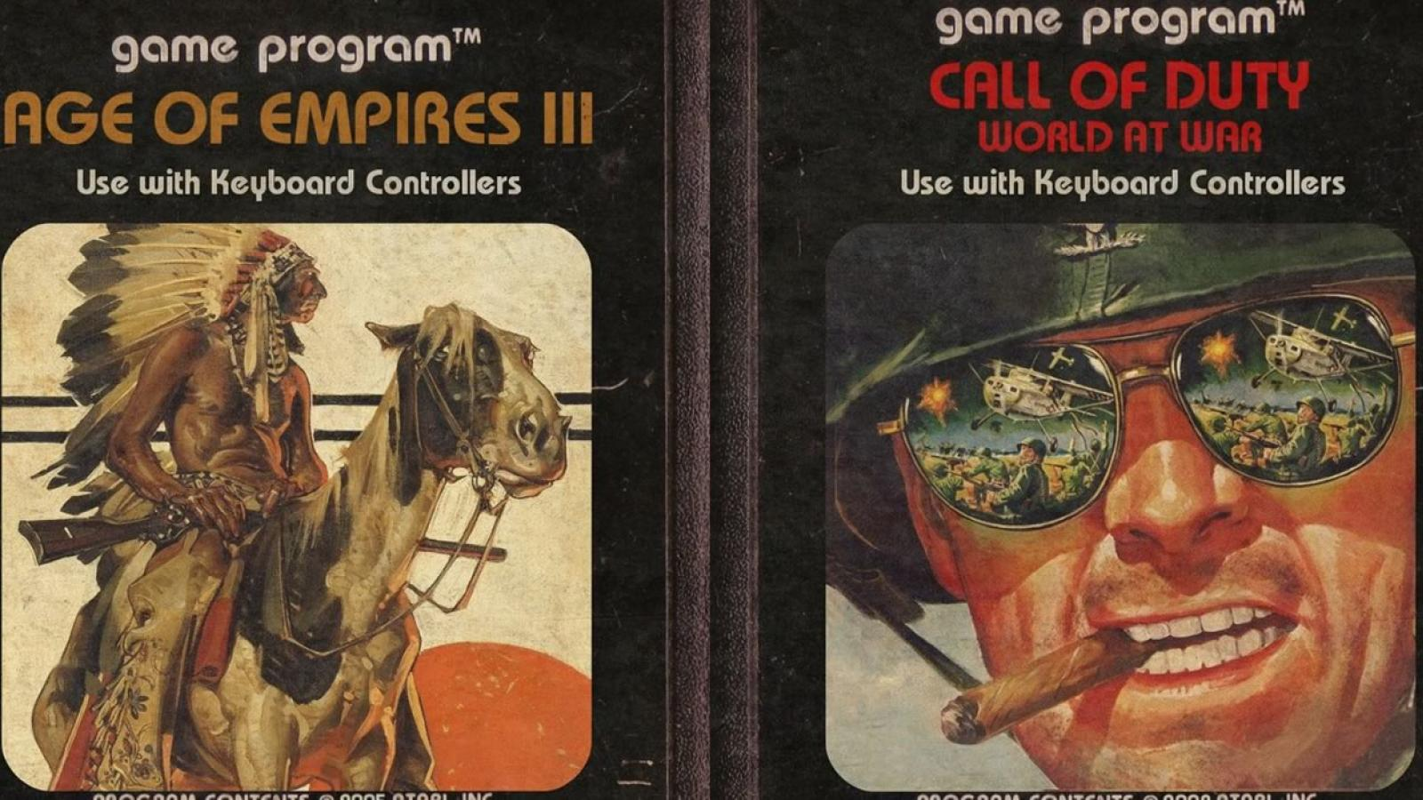 Modern Games as Atari Cartridges