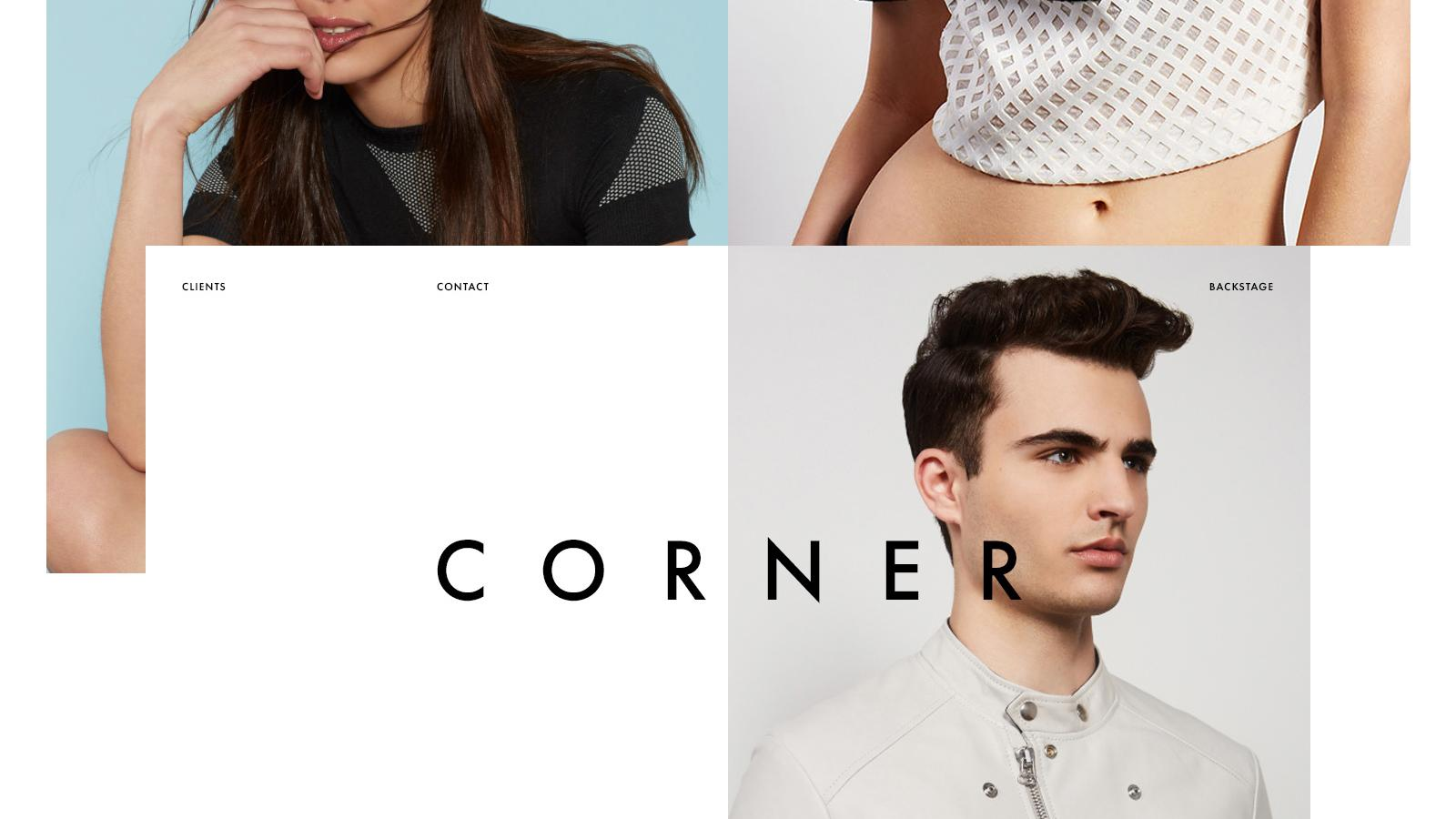 Minimalist Web Design for Corner Photo Studio