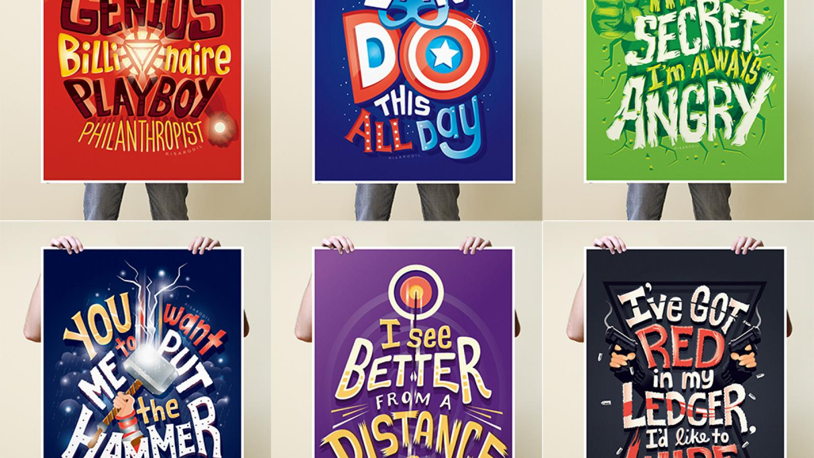 Marvel Superheroes: Lettering Series