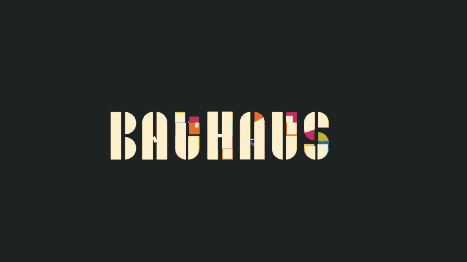 Motion Design & Typography Awesomeness for Adobe Hidden Treasures Bauhaus Dessau