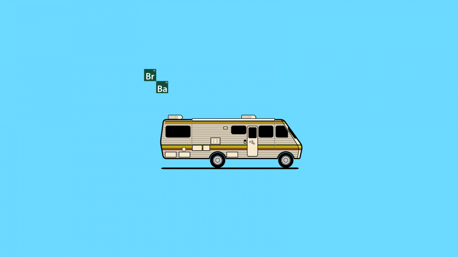 Vector Breaking Bad RV in Illustrator