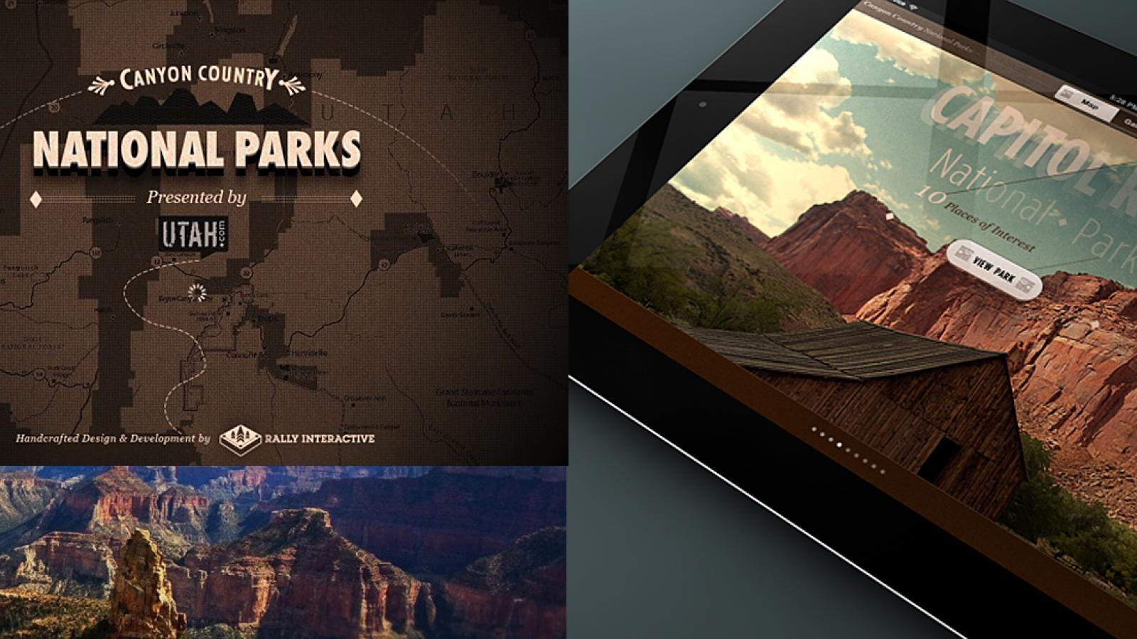 Canyon Country National Parks App on iPad by Ben Cline
