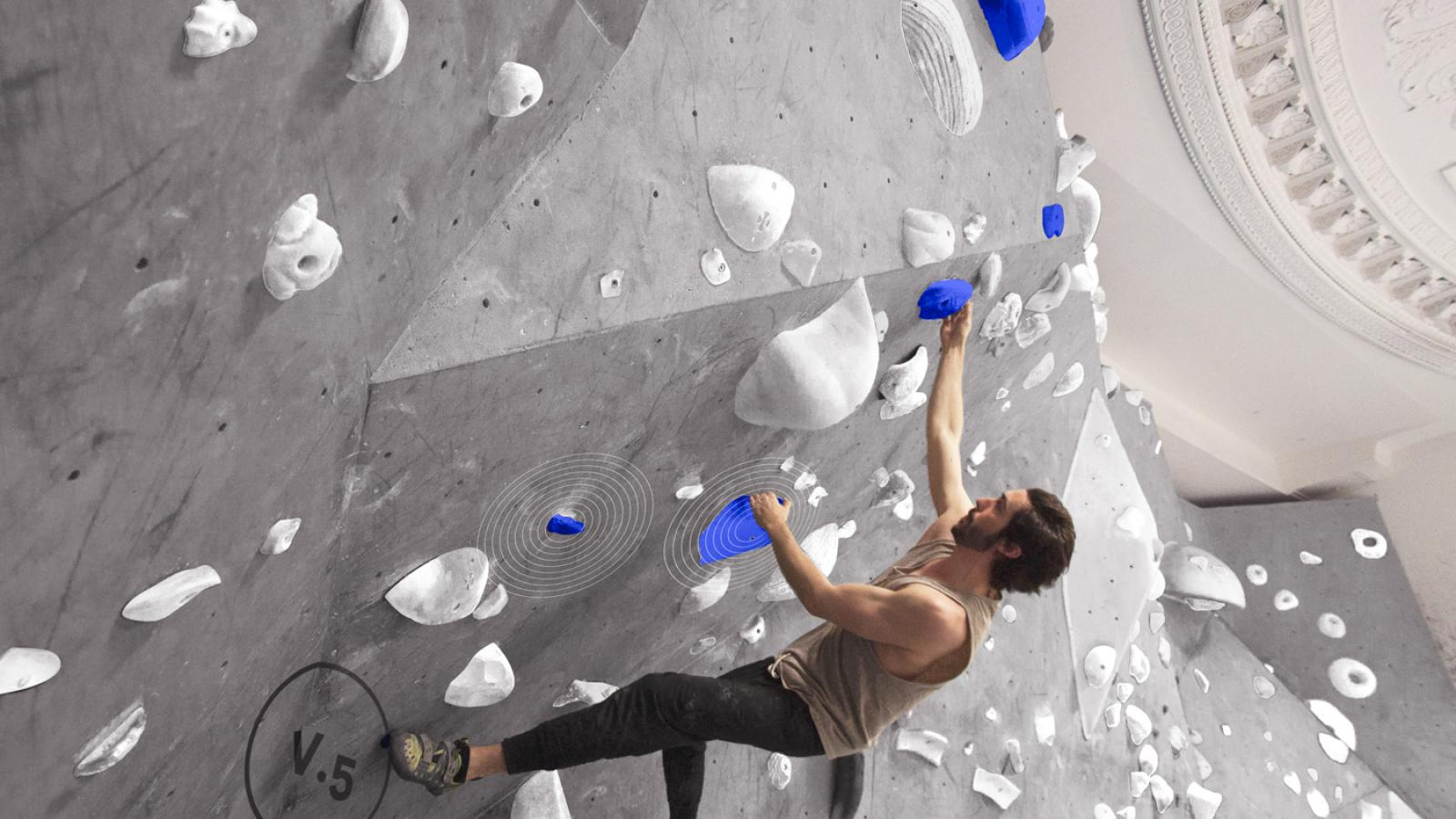 Bouldering with an Augmented Reality
