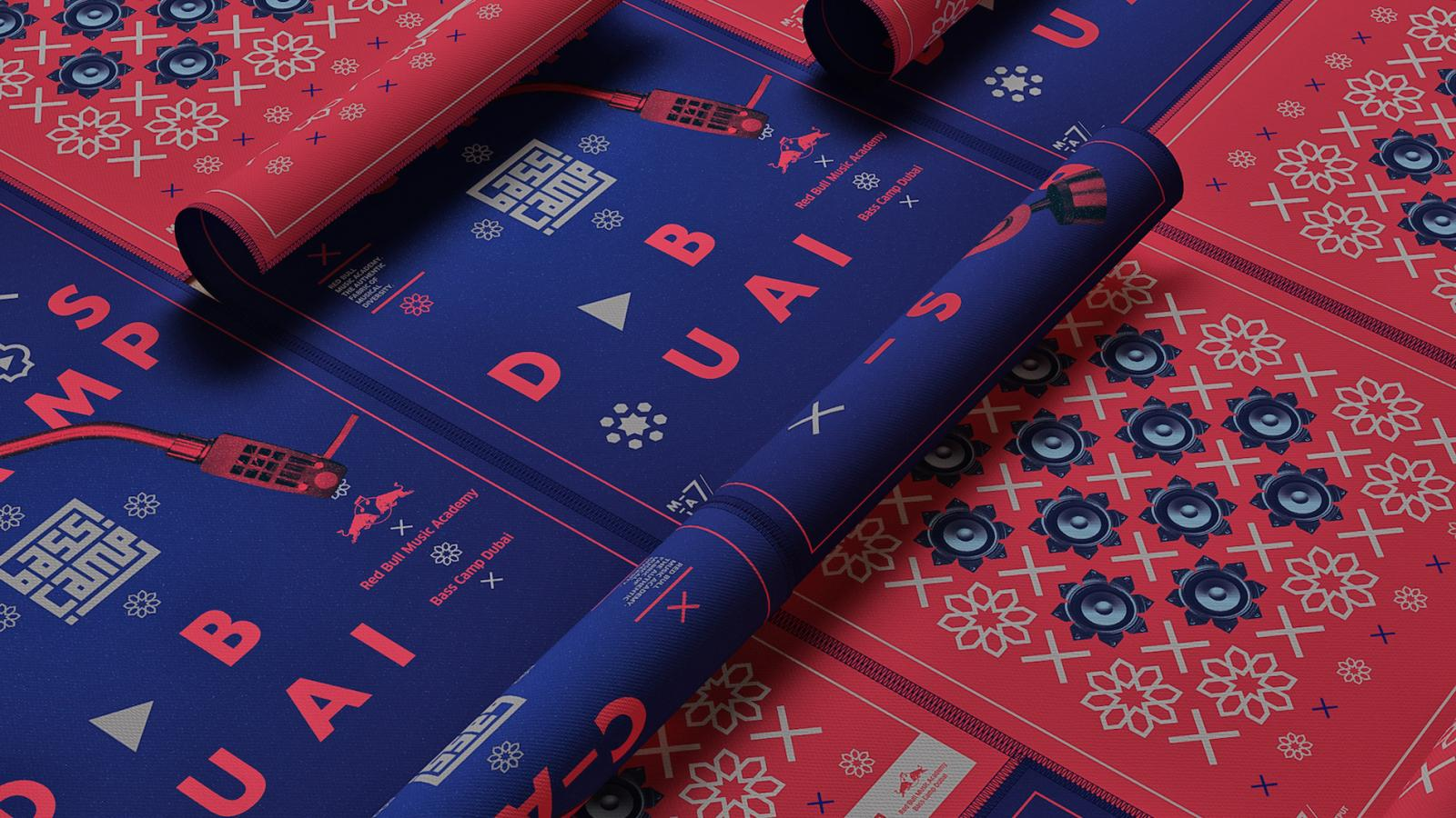 Poster Design for Red Bull Music Academy Bass Camp Dubai