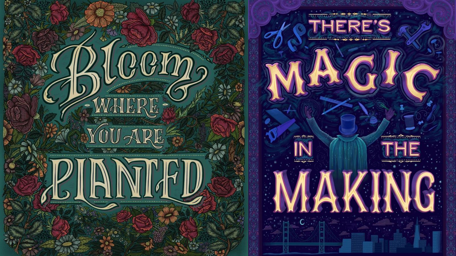 Magnificent Hand Lettering by Emilee Rudd