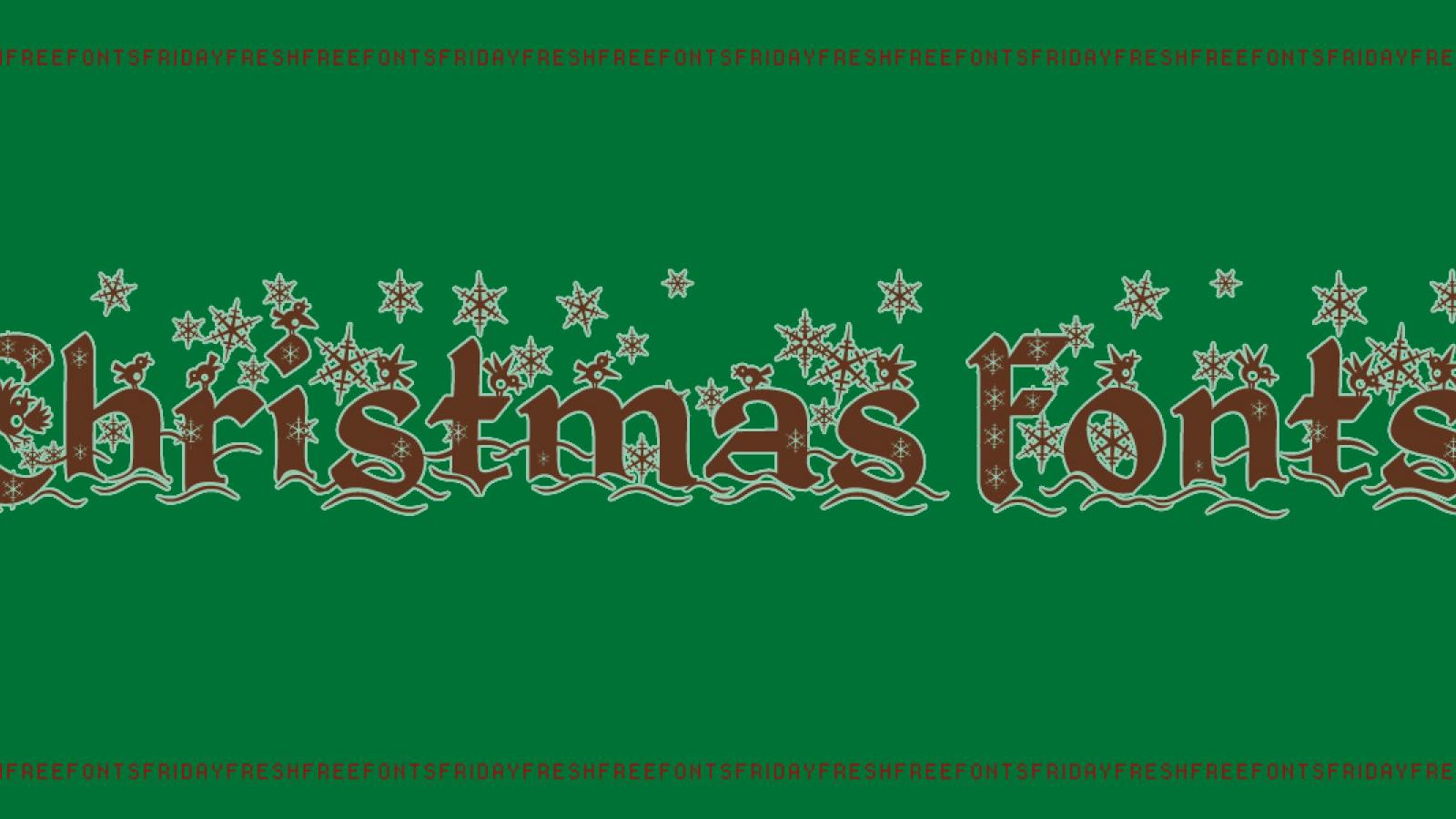 Friday Fresh Free Fonts - Christmas Card, Kingthings Christmas ...