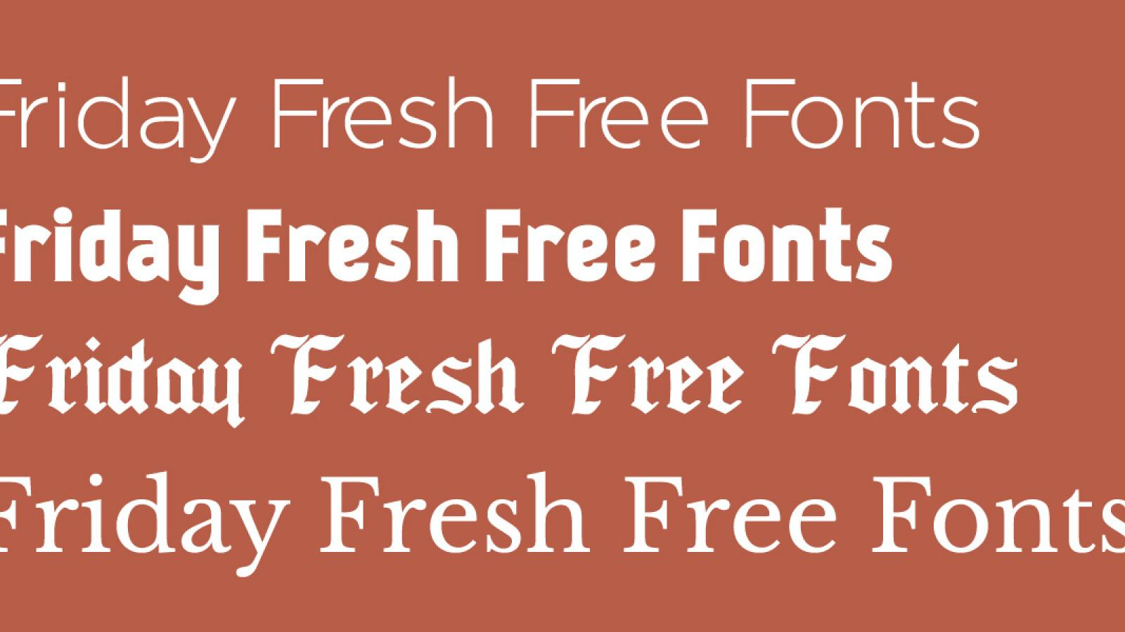 Friday Fresh Free Fonts - Regencie, Kankin, ...