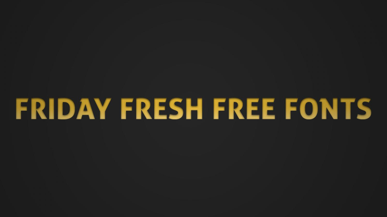 Friday Fresh Free Fonts - Prime Script, Manteka, ...