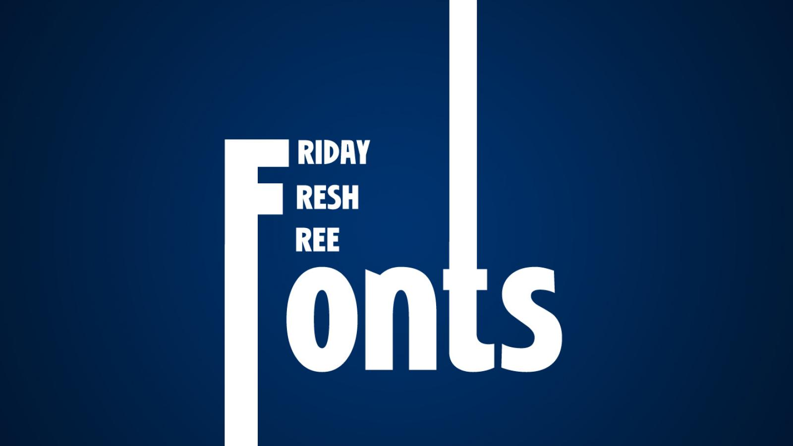 Friday Fresh Free Fonts - Niobium, Wolf in the City, Overpass