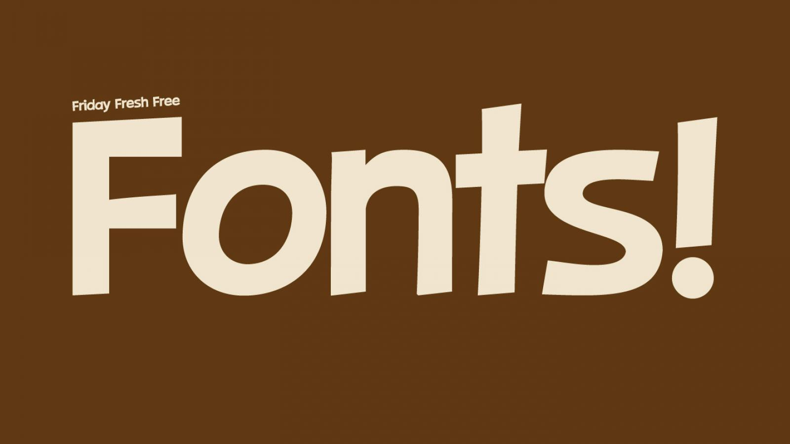 Friday Fresh Free Fonts - Gidole, Mexe, Wood Print