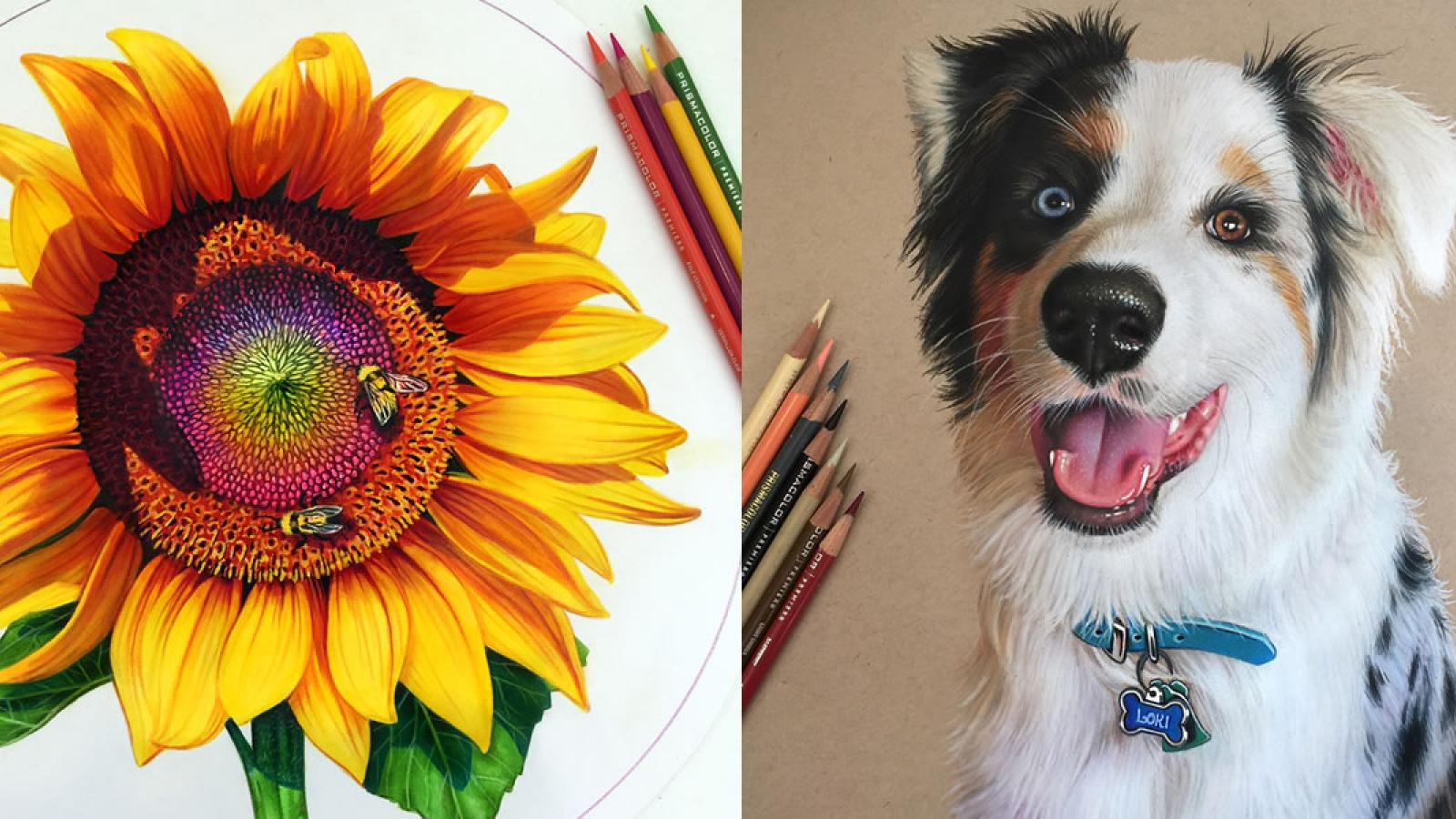 Exquisite Colored Pencil drawings by Morgan Davidson